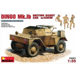 DINGO Mk.1b BRITISH SCOUT CAR w/CREW. Escala 1:35. Marca Miniart. Ref: 35067.