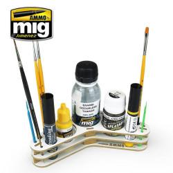 Organizador pinceles y herramientas. Marca Ammo of Mig jimenez. Ref: AMIG8028.
