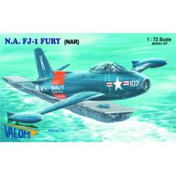 Set avión Furia norteamericana FJ-1 (NAR). Escala 1:72. Marca Valom. Ref: 72085.