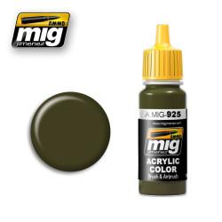 Acrílico RLM 81 verde oliva oscura. Bote 17 ml. Marca Ammo by Mig Jimenez. Ref: AMIG0925.