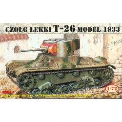 Soviet T-26 Light tank (Mod.1933). Escala 1:72. Marca Mirage. Ref: 72609.