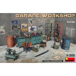 Set Garaje y taller de vehículos. Escala 1:35. Marca Miniart. Ref: 35596.