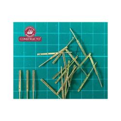 CCandelero plano de latón 3 orificios,18mm (20 Unid.). Marca Constructo. Ref: 80058.