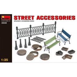 Set de accesorios para la calle. Escala 1:35. Marca Miniart. Ref: 35530.