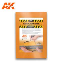 Carving foam, Espuma fenólica grosor 10 mm en A5. Marca AK Interactive. Ref: AK8092.