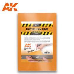 Carving foam, Espuma fenólica grosor 10 mm en A4. Marca AK Interactive. Ref: AK8094.