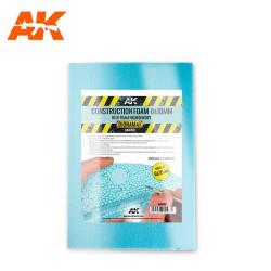 Espuma azul de construcción, 6 y 10 mm de alta densidad 195x295 mm. 2 hojas. Marca AK Interactive. Ref: AK8098.