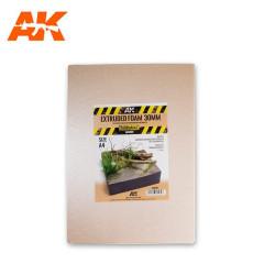 Extruded foam, Espuma estruida. Grosor 30mm en A4. Marca AK Interactive. Ref: AK8099.