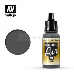 Acrilico Model air, negro caucho. Bote 17 ml. Marca Vallejo. Ref: 71.315.