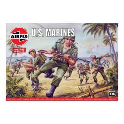 Set de Figuras marines U.S. WWII. Escala 1:76. Marca Airfix. Ref: A00716V.