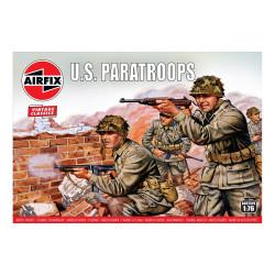 Set de Figuras Paracaídistas U.S.. Escala 1:76. Marca Airfix. Ref: A01751V.