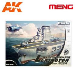 Model-Warship Builder Lexington. Serie world war toons. Marca Meng. Ref: WB-001.