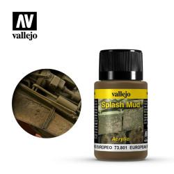 Weathering effects, efectos barro europeo. Bote de 40 ml. Marca Vallejo. Ref: 73.801.