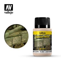 Weathering effects, efectos barro marrón claro. Bote de 40 ml. Marca Vallejo. Ref: 73.804.