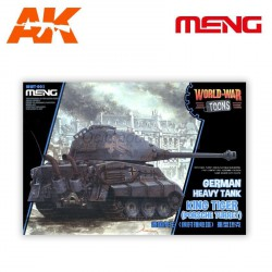 GERMAN HEAVY TANK KING TIGER (PORSCHE TURRET) . Serie world war toons. Marca Meng. Ref: WWT-003.