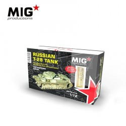 RUSSIAN T-28 TANK. Escala 1:72. Marca Mig productions. Ref: MP72-414.