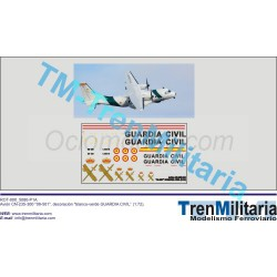 """Calcas Avión CN-235-300 """"09-501"""", Guardia Civil. Escala 1:72. Marca Trenmilitaria. Ref: 000_5080."""