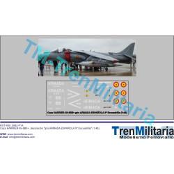 Calcas Caza Harrier AV-8BII+, Armada española 9ª Escuadrilla. Escala 1:48. Marca Trenmilitaria. Ref: 000_5083.