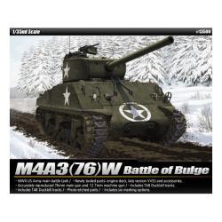 Tanque U.S. M4A3 (76)W SHERMAN. Batalla de las Ardenas. Escala 1:35. Marca Academy. Ref: 13500.