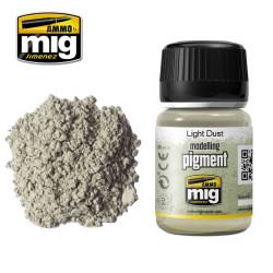 Pigmento polvo claro, light dust. Marca Ammo by Mig Jimenez. Referencia: AMIG3002.