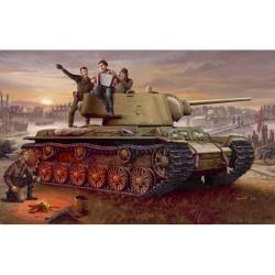 Tanque ruso KV-1, 1942, lightweight cast. Escala 1:35. Marca Trumpeter. Ref: 00360.