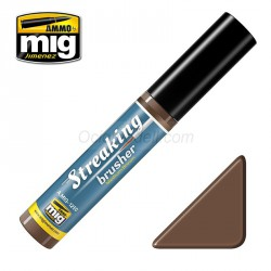Streakingbrusher: Medium brown, marrón medio. Marca Ammo of Mig Jimenez. Ref: AMIG1250.
