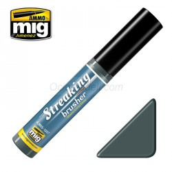 Streakingbrusher: Gris sucio cálido. Marca Ammo of Mig Jimenez. Ref: AMIG1257.