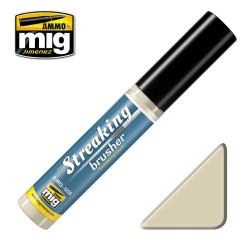 Streakingbrusher: Polvo escurrido, streaking dust. Marca Ammo of Mig Jimenez. Ref: AMIG1258.