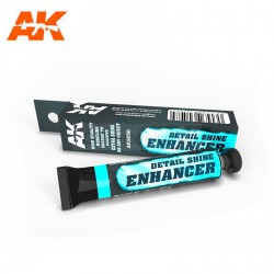DETAIL SHINE ENHANCER, Cera brillo para detalles. Bote 20 ml. Marca AK Interactive. Ref: AK9050.