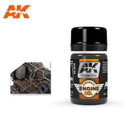 Lavado efecto aceite para aviones, aircraft engine oil. Bote de 35 ml. Marca AK Interactive. Ref: AK2019.