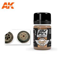 Efecto suciedad en el tren de aterrizaje, landing gear dust. Bote de 35 ml. Marca AK Interactive. Ref: AK2031.