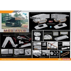 M60 AVLB (Armored Vehicle Launched Bridge). Escala 1:35. Marca Dragon. Ref: 3591.