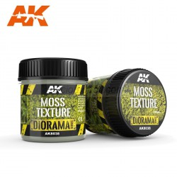Producto weathering, Moss Texture, textura musgo. Bote de 100 ml. Marca AK Interactive. Ref: AK8038.