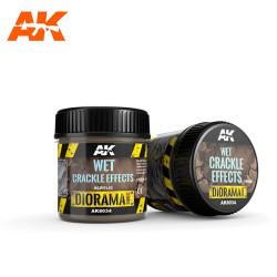 Producto weathering, Effect wet crackle, efecto craquelado húmedo. Bote de 100 ml. Marca AK Interactive. Ref: AK8034.