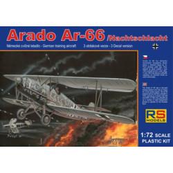 Arado Ar-66, Nachtschlacht, monoplaza. Escala 1:72. Marca RSmodels. Ref: 92063.
