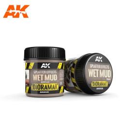 Splatter Effects wet mud. Bote de 100 ml. Marca AK Interactive. Ref: AK8026.