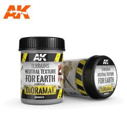 Terrenos textura neutral para tierra (PRODUCTO BASE). Bote de 250 ml. Marca AK Interactive. Ref: AK8023.