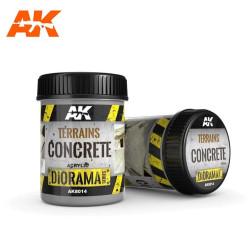 Terrains concrete, terrenos de hormigón. Bote de 250 ml. Marca AK Interactive. Ref: AK8014.