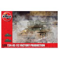 T34-85 112 Factory production. Escala 1:35. Marca Airfix. Ref: A1361.