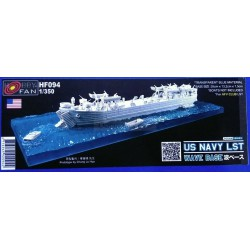 "US navy LST wave "" BASE "". Escala: 1:350. Marca: AFV CLUB. Ref: HF094."