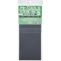 MR.TOOLS WATERPROOF SAND PAPER 1200/1500/2000 - Lijas de agua (2/cada). Marca MR Hobby. Ref: MT302.