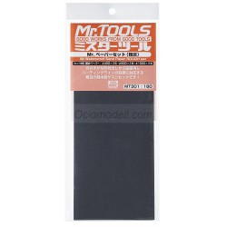 MR.TOOLS WATERPROOF SAND PAPER 400/600/1000 - Lijas de agua (2/cada). Marca MR Hobby. Ref: MT301.