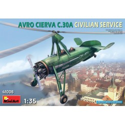 AVRO CIERVA C.30A CIVILIAN SERVICE. Escala 1:35. Marca Miniart. Ref: 41006.