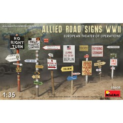 ALLIED ROAD SIGNS WWII. EUROPEAN THEATRE OF OPERATIONS. Escala 1:35. Marca Miniart. Ref: 35608.