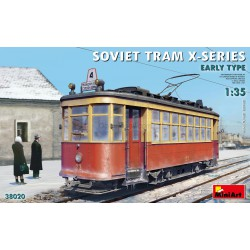 SOVIET TRAM X-SERIES. EARLY TYPE. Escala 1:35. Marca Miniart. Ref: 38020.