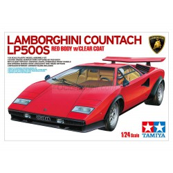 Lamborghini Countach LP500, (Red Body w/Clear Coat). Escala 1:24. Marca Tamiya. Ref: 25419.