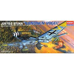 "Avión JU-87G-2 STUKA "" KANONEN VOGEL "". Escala 1:72. Marca Academy. Ref: 12404."