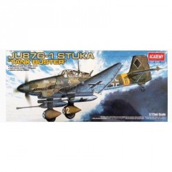 "Avión JU-87G-1 STUKA "" tank buster "". Escala 1:72. Marca Academy. Ref: 12450."