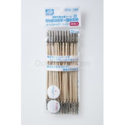 Mr.ALMIGHTY CLIP STICK(36pcs ), Bastoncillo con pinza. Marca MR Hobby. Ref: GT90.
