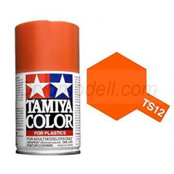 Spray orange gloss, naranja brillante (85012). Bote 100 ml. Marca Tamiya. Ref: TS-12.